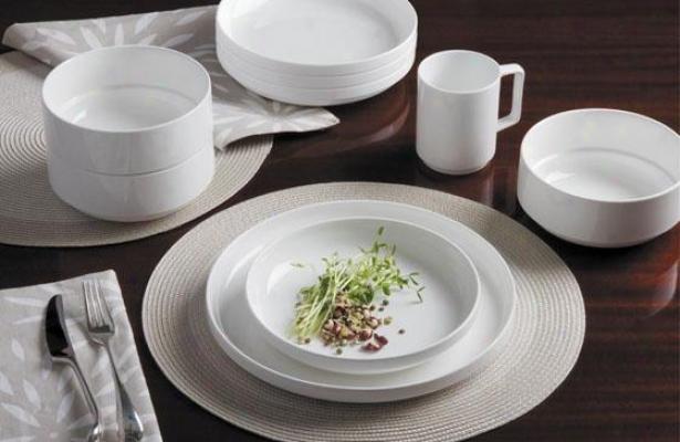 Linea 16-piece Dinnerware Set - 16 Piece Set, White