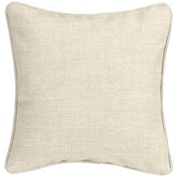 """""""linen Natural Fiber-filled Pillow - Fibsr-flld Pllw, 17"""""""" Square"""""""