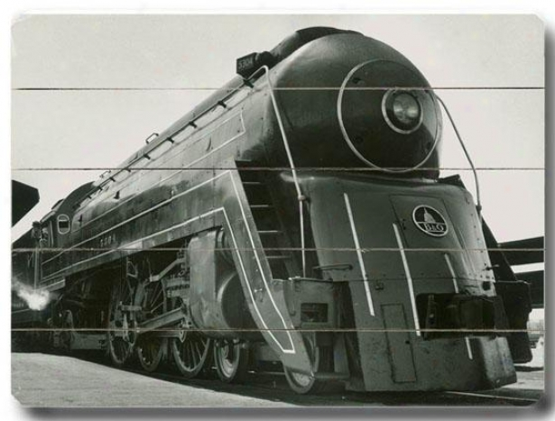 """locomotive Wooden Sign - 14""""h X 20""""w, Black"""