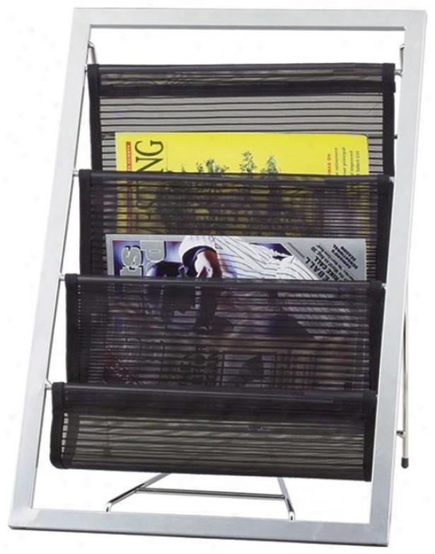 """loft Magazine Rack - 13""""dx20""""h, Silver"""