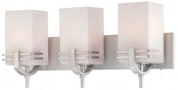 Logan 3-light Vanity - Three Light, Soft and clear