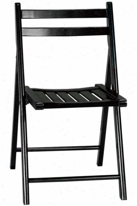 Logan Folding Chair - Stud Of 2, Black