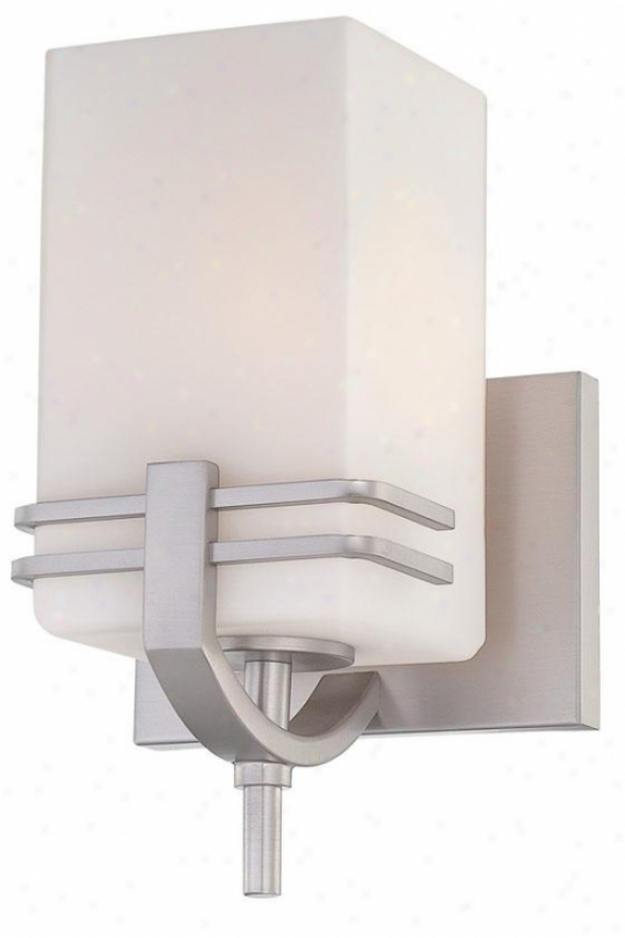 Logan Sconce - One Light, Silver