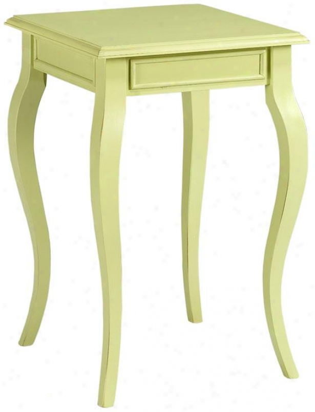 """loan Side End Table - 25""""hx16""""w, Sultana Green"""