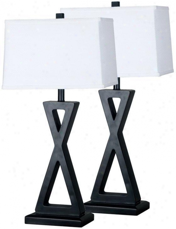 """logan Table Lamp - 2-pack - 31""""hx15""""d, Oil Rubbed Bronze"""