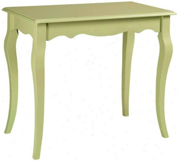 """logan Writing Desk - 29""""hx34 """"w, Sultana Green"""