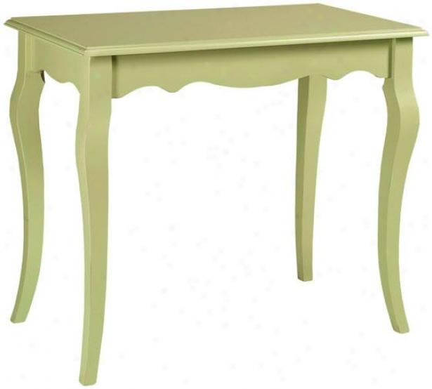 """logan Writing Desk - 29""""hx34 """"w, Sultana Green"""
