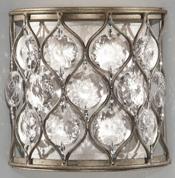 """lola Roux Wall Sconce - 8""""h X 8""""w, Burnished Slver"""
