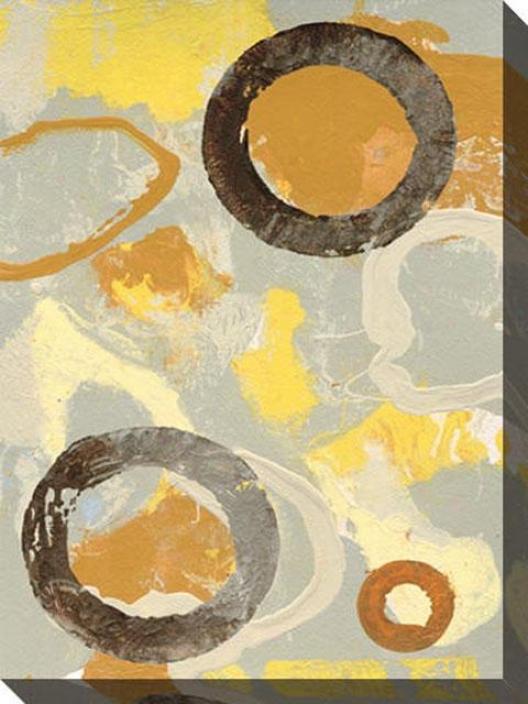 Lost In The Details Iii Canvas Wall Art - Iii, Golden