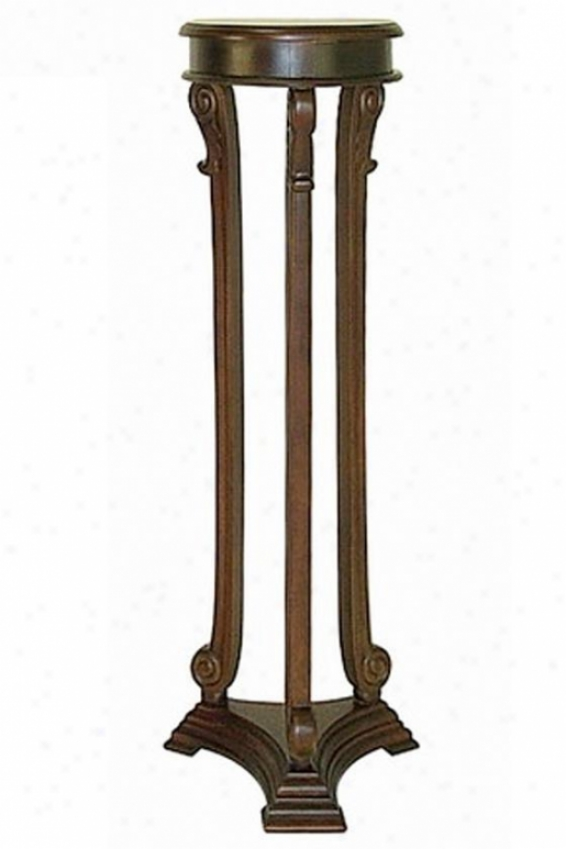 Louis Pedestal - Small, Brown