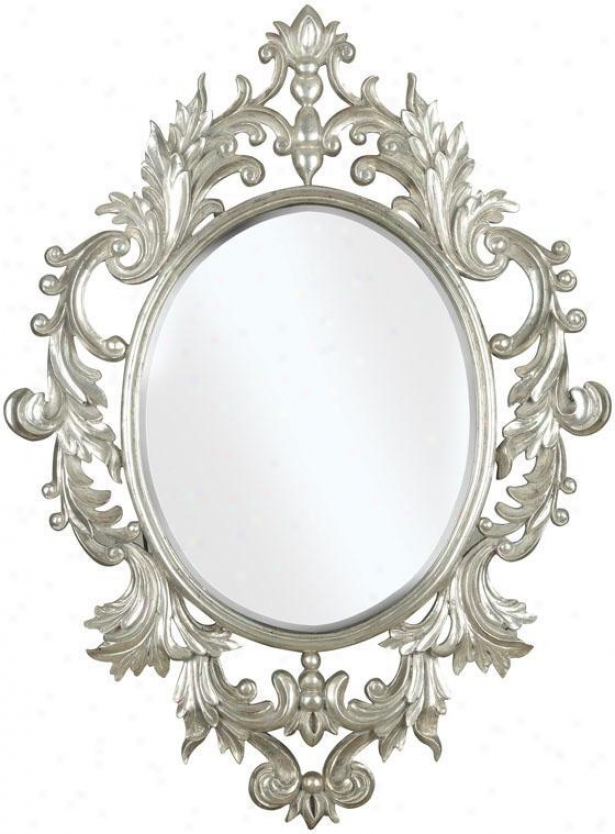"""louos Wall Mirror - 38""""hx28""""w, Silver"""