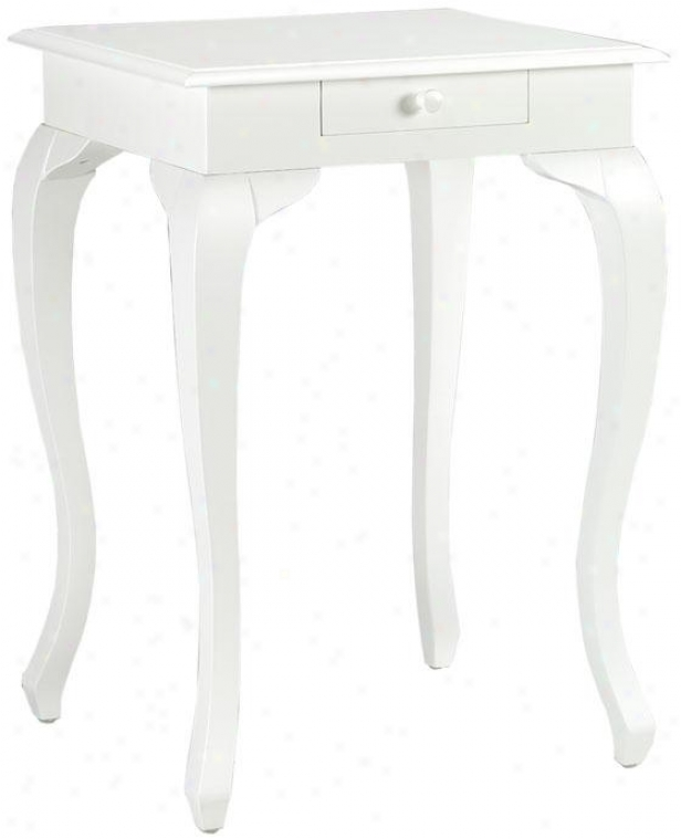 """louisa Accent Table - 30.25""""hx21.5""""w, White"""