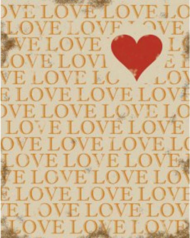 """""""love Wall Art - 14""""""""hx11""""""""wx2""""""""d, Beige"""""""