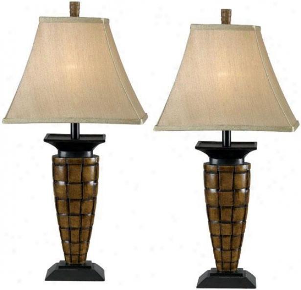 """loyd Table Lamp - Set Of 2 - 27""""h, Bronze"""