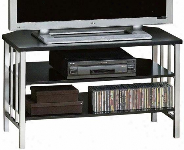 """""""lucent Corner Tv Stand - 40""""""""w, Pewter/black Wd"""""""
