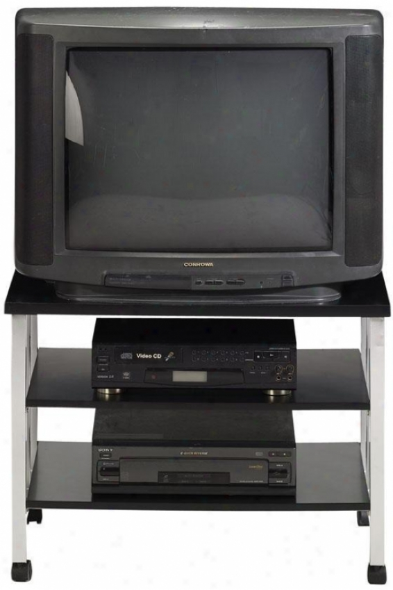"""""""lucent Standard Tv Stand - 31.5""""""""w, Pewter/black Wd"""""""