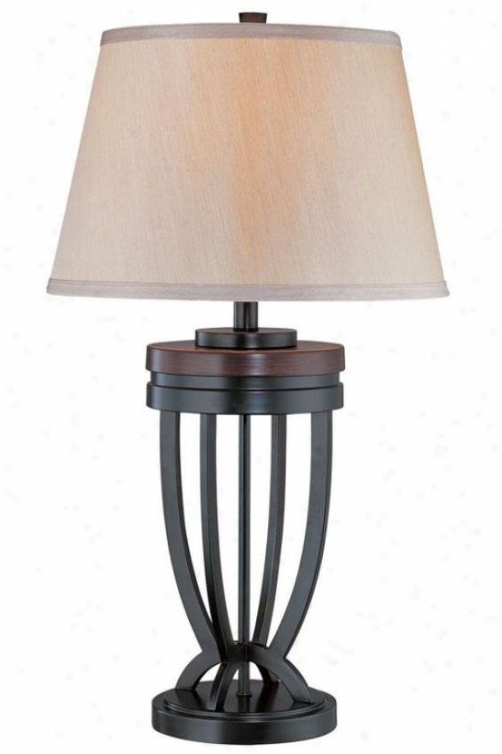 """luciana Ta6le Lamp - 28.5""""h X 16""""w, Black"""