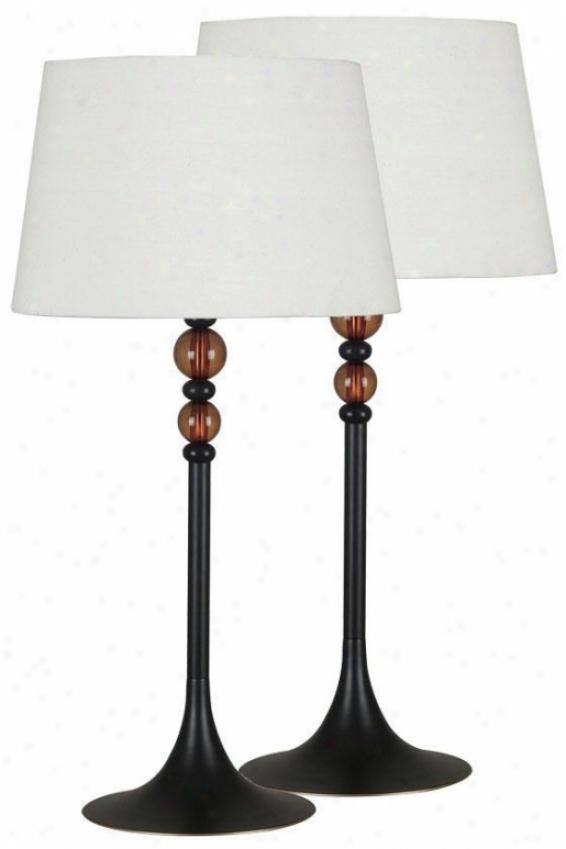 "l""uella Table Lamps - 2-pack - 30""""hx15""""d, Oil Rubbed Bronze"""
