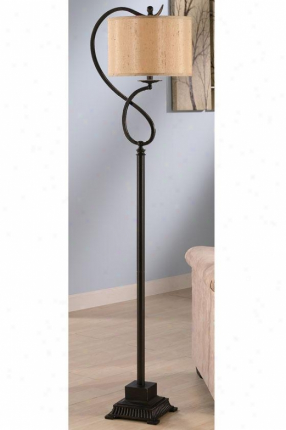 """lydia Bronze Metal Floor Lamp - 64""""h, Bronze"""