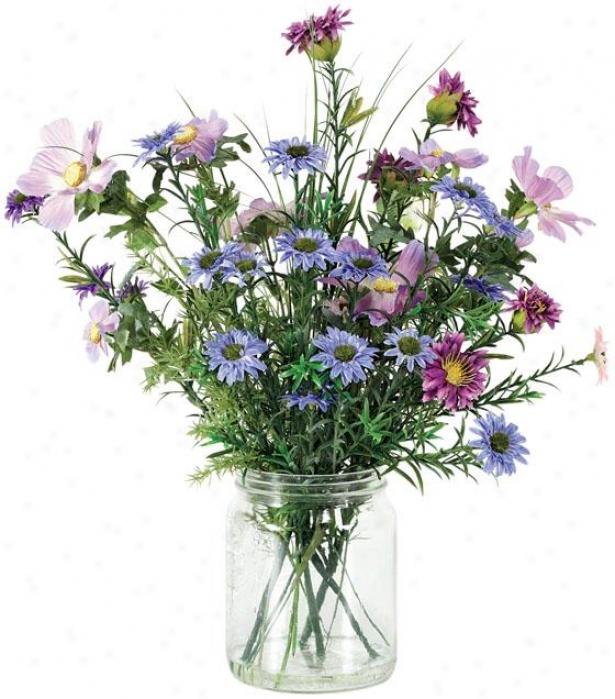 """""""lgdia Floral Arrangement - 16""""""""hx4""""""""d, Purple"""""""
