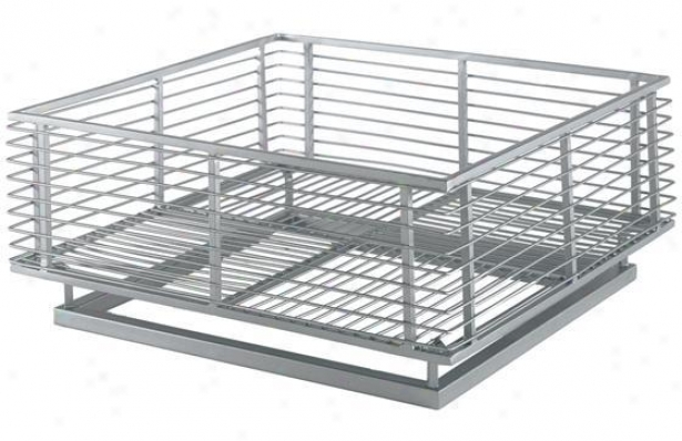 """macanese Wire Basket - 6.25""""hx14""""w, Steel Gray"""