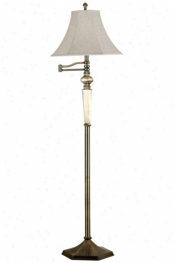 """mackinley Swing-arm Floor Lamp - 60""""yx15""""d, Georgetown Brnz"""