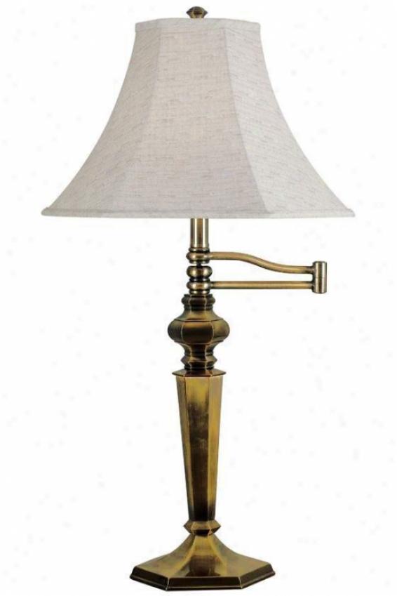 """mackinley Swing-arm Tble Lamp - 32""""hx15""""d, Georgetown Brnz"""