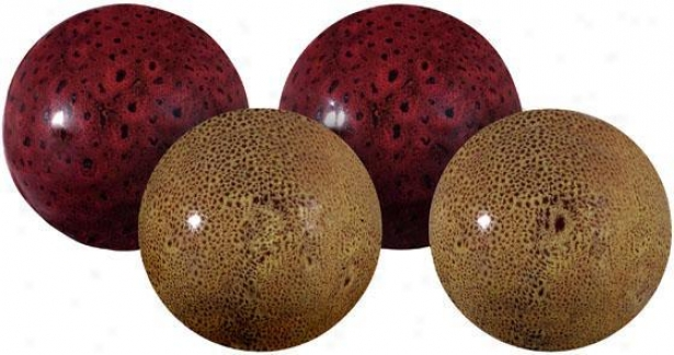 """""""madra Spheres- Set Of 4 - 4""""""""d, Red"""""""