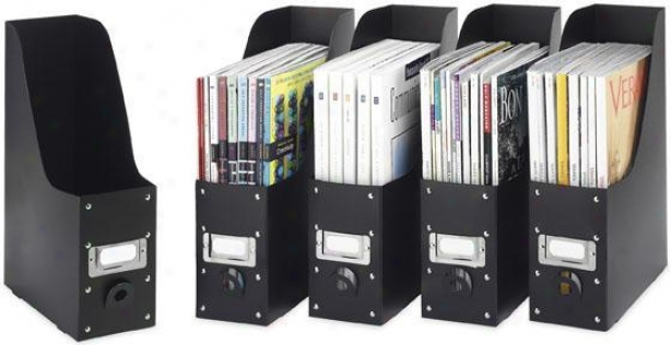 Magazine Organizers - Immovable Of 5 - Set Of 5, Black