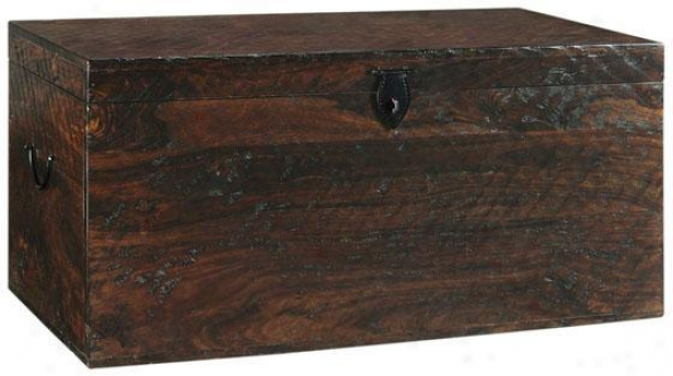 """maldives Trunk - 18.5""""hx83""""w, Brown Wood"""