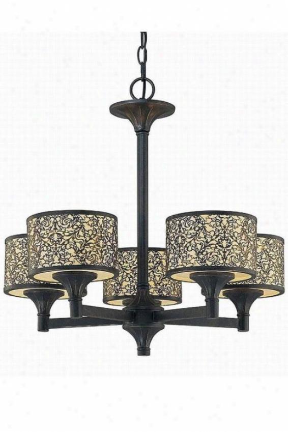 Malia Bronze Chandelier - Five Light, Bronze
