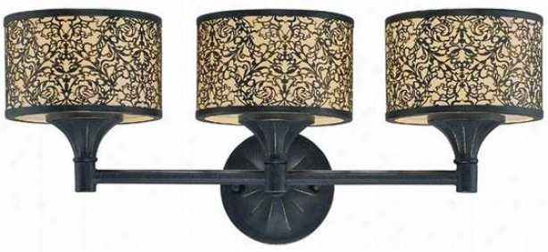 Malia Vanity Light - 3 Light/bathbar, Bronze