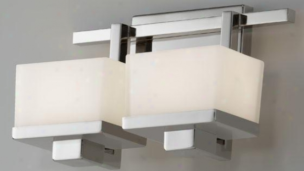 Malizia Vanity Fixture - Two Light, Grey Steel