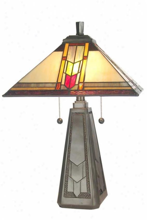 """mallinson Stand  Lamp - 21h X 14""""d, Coffee Black"""