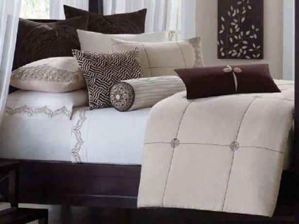 Mantra Ii Comforter Set - Queen 9pc Regulate, Ivory
