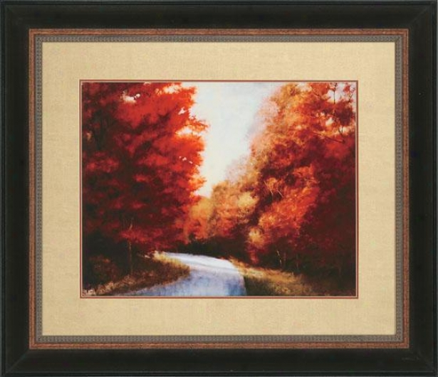 """maple Drive Wall Art - 39""""hx45""""w, Red"""