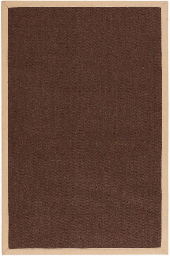 Marblehead Sisal Area Rug - 4'x6', Chocolate Brown
