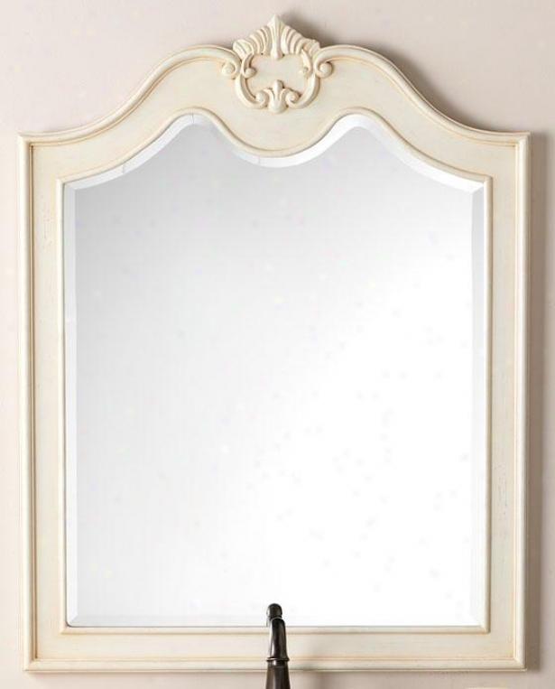 """""""marias Mirror - 36""""""""hx28""""""""w, Ivory"""""""
