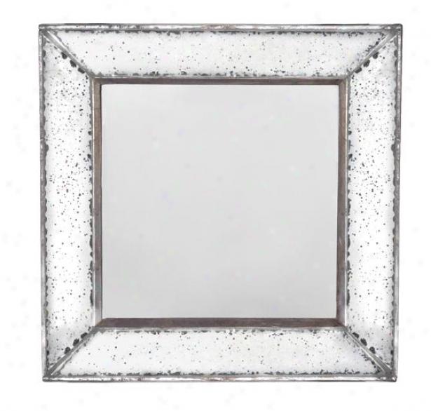 """marilyn Square Mirror - Square 12""""x12"""", Antiqued Mirror"""