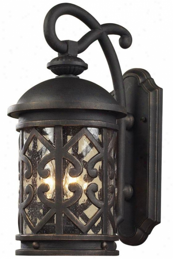 """marina 22""""h Exterior Sconce - 3-light, Weathrd Chrcoal"""