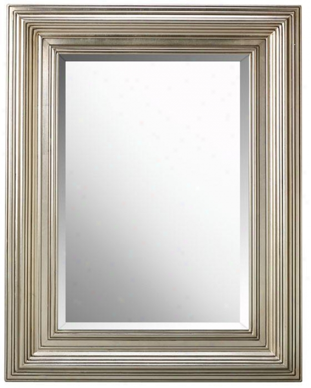 """""""msrio Mirror - 41""""""""hx31""""""""w, Silver Leaf"""""""