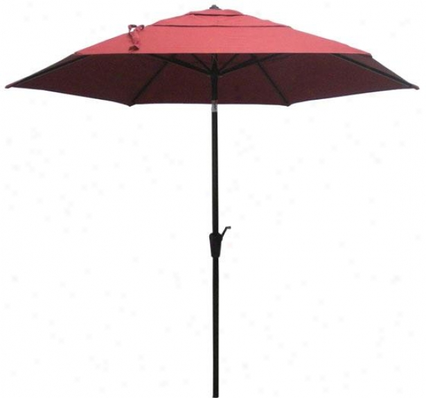 Marion 9' Outdoor Sun Market Umbrella - 9', Sonora Chili