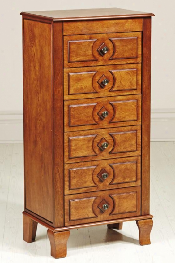 """marion Jewelry Armoire - 40""""hx19""""wx13""""d, Brown"""