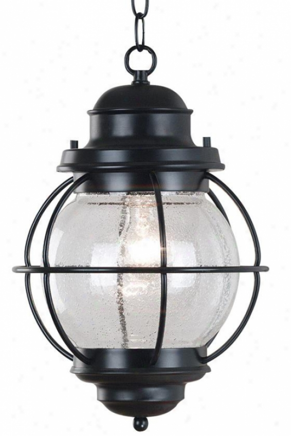 Maritime Outdoor Hanging Lantern - 1-light, Black