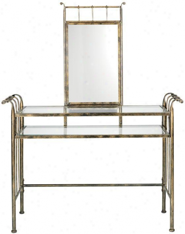 Marquette Vanity With Mirror - Set, Copper Assurance
