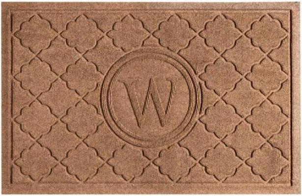 """""""marrakesh Monogram Doormat - 21.5""""""""x31.5"""""""", Brown"""""""