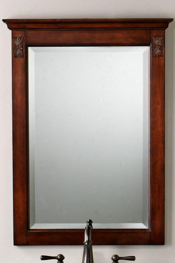 """marseille Mirror - 32""""hx24""""w, Brown"""