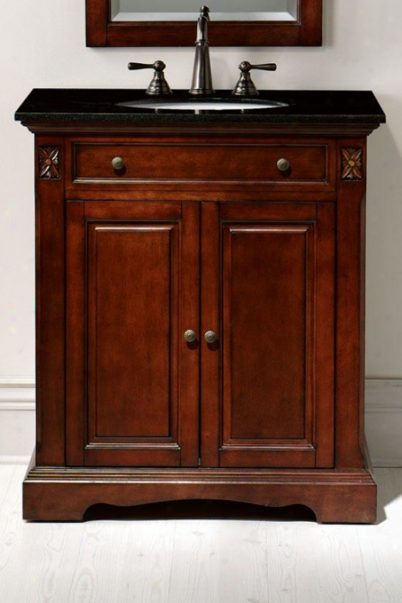 """marseille Vanity - 35""""hx31""""w, Brown"""