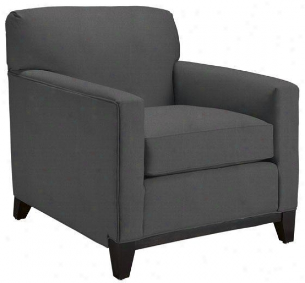"""martin Arm Chair - 35""""hx32""""w, Text Solid Grey"""