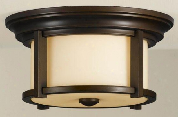 Martin Outdoor Flush Mount - Two Light, Heritage Bronzr